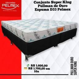 Conjunto Casal Super KIng Size Pelmex com Espuma D33