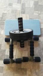 Vendo roda p/abdominal e suporte p/ flexão 70.00