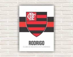 Placa/Quadro Flamengo Personalizado