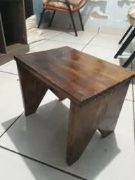 Kit 2 banquinhos madeira pinus rusticos ,banheiro ,area lazer altura 32 cm