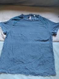 Blusa Seda com renda e Grype T-G