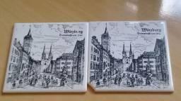 Azulejos Alemão  Decoração Villeroy Boch importado novo 10 peças 10,5mx10,5cm