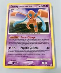 Carta Pokémon - DEOXYS Defense Forme (carta antiga e rara!!)