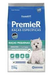 Ração Premier Ambientes Internos para Cães Adultos Sabor Frango e Salmão<br><br>7,5kg