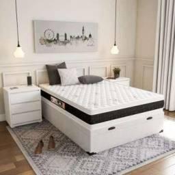 Título do anúncio: Colchão molas double face e cama cama box baú
