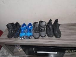 Vendo tênis e botas masculino