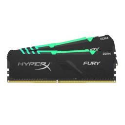 Kit ddr4 16gb(2x8) 2666mhz Hyperx fury RGB cl16- novo