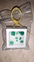 laudo de esmeraldas prop. MLSA, colar em ouro, aneis, brincos, joias furtadas