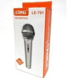 MICROFONES MICROFONE DINÂMICO COM FIO LELONG LE-501 CABO 2.5