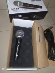 Microfone profissional SM 38 com cabo