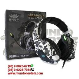 Headset Gamer Camuflado Branco Com Led USB + 2-P2 Knup KP-GA02 em são luís ma