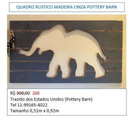 Lindo quadro com elefante vazado rustico