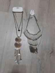 Maxi colares conchas/pérolas (novos)