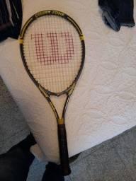 Raquete De Tênis Tour Slam Rkt 3 Preta E Amarela - Wilson