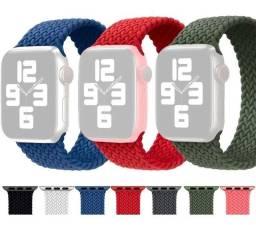 Pulseira Smartwatch Loop Solo Trançada Nylon Apple Watch iwo W26/46/56/x8/x7/hw12