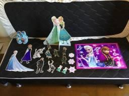 Sandália e Pós festa Frozen, Olaf, Sven e sandália Ana e Elsa tamanho 29