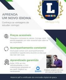 Estude Inglês ou Espanhol sem sair de casa, aulas 100% ao vivo, via Zoom