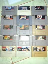 Coleção Lote de jogos de Super Nintendo