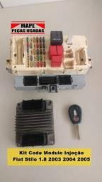 Kit Code Modulo Injeção Fiat Stilo 1.8 2003 2004 05 55184583