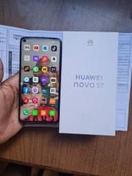 Huawei nova 5t 128 Gb 8 ram novinho aceito trocas