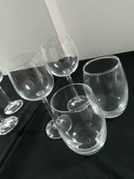 Taças de cristal e Copos de vidro