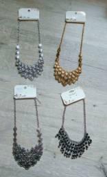 Maxi colares prateado/dourado (novos)