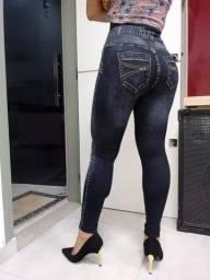 Calça legging/ aparência de jeans