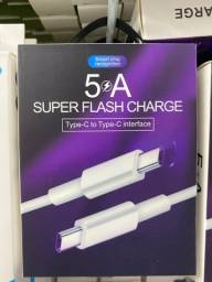 Cabo Carrgador Tipo c & Type c Turbo 5A Super flash charge
