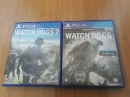Watch dogs 1 e 2, 50 reais