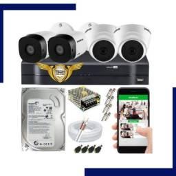 kit -04 cameras de segurança promoção