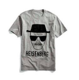 Camiseta Heisenberg Breaking Bad Tamanho P Cor Cinza 100% Algodão Zerada