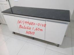 Balcão 1,60m com tampo reto/NOVO