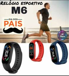 Relógio inteligente M6 smartwatch Novo unissex feminino masculino