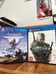 CARUARU jogos PS4 The Whitcher 3 e Horizon