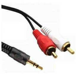 Cabo P2 X 2 Rca Áudio Auxiliar Estereo 1,5LIANDALIANDA Metros Para Celulares, Tv's,