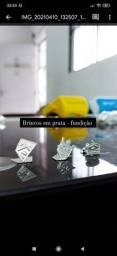 Brincos em prata italiana 925 e 950