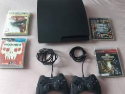 Playstation 3 Slim com 11 jogos