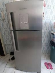 Refrigerador Brastemp frostfree duplex aço inox