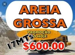 17 MTs Areia Grossa apenas R$ 600.00