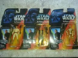 Coleção de bonecos Star Wars antigo