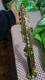 Sax Soprano Stagg 77- sst + 2 Boquilhas Everton + Bary 68 Replica idêntica .5 Palhetas