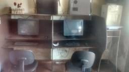 Cyber_ 1 baia, 2 computadores 2 cadeiras