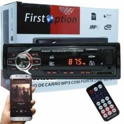 Som de carro Rádio Mp3 Player First Option Bluetooth Fm Controle Sd Usb (Leia o anúncio)