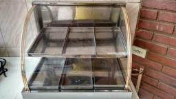 Expositor de Alimentos duplo temperatura ambiente