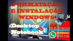 Formatação notbook e desktop