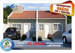 Lançamento - Casa 2 Quartos com Quintal Privativo - Documentação Grátis
