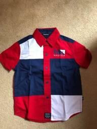 Camisa Náutica infantil nova!