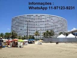 Peruíbe - prédio redondo- apartamento frente do mar