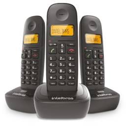 Telefone Sem Fio Intelbras TS 2513 Identificador de Chamadas, Preto