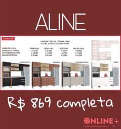 Cozinha Aline completa com balcão
